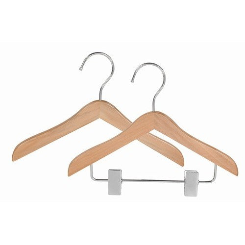 Wooden Hanger With Clip - Doggie Design