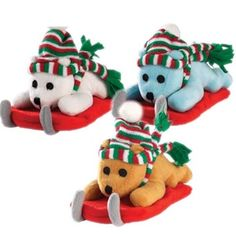 Zanies Frosty Bears Dog Toy