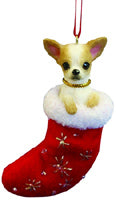 Chihuahua Stocking Ornament - E&S Imports