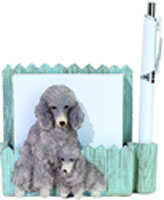 Silver Poodle Notepad - E&S Imports