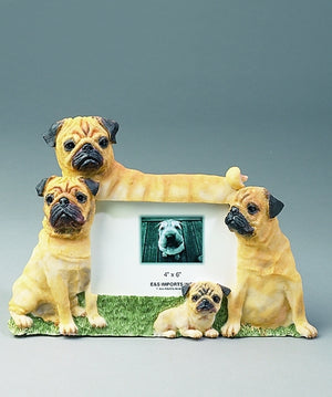 Pug Picture Frame - E&S Imports