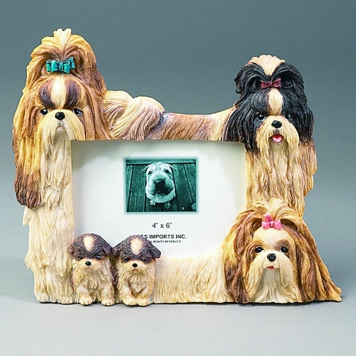 Shih-Tzu Picture Frame - Brown - E&S Imports