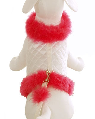Diva Dog Harness White & Hot Pink
