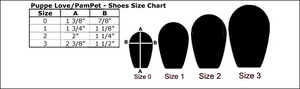 Puppe Love Dog Shoe Size Chart