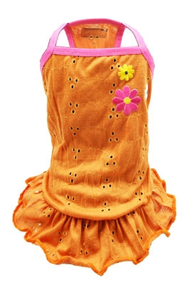 Orange Blossom Eyelet Dress - Hip Doggie