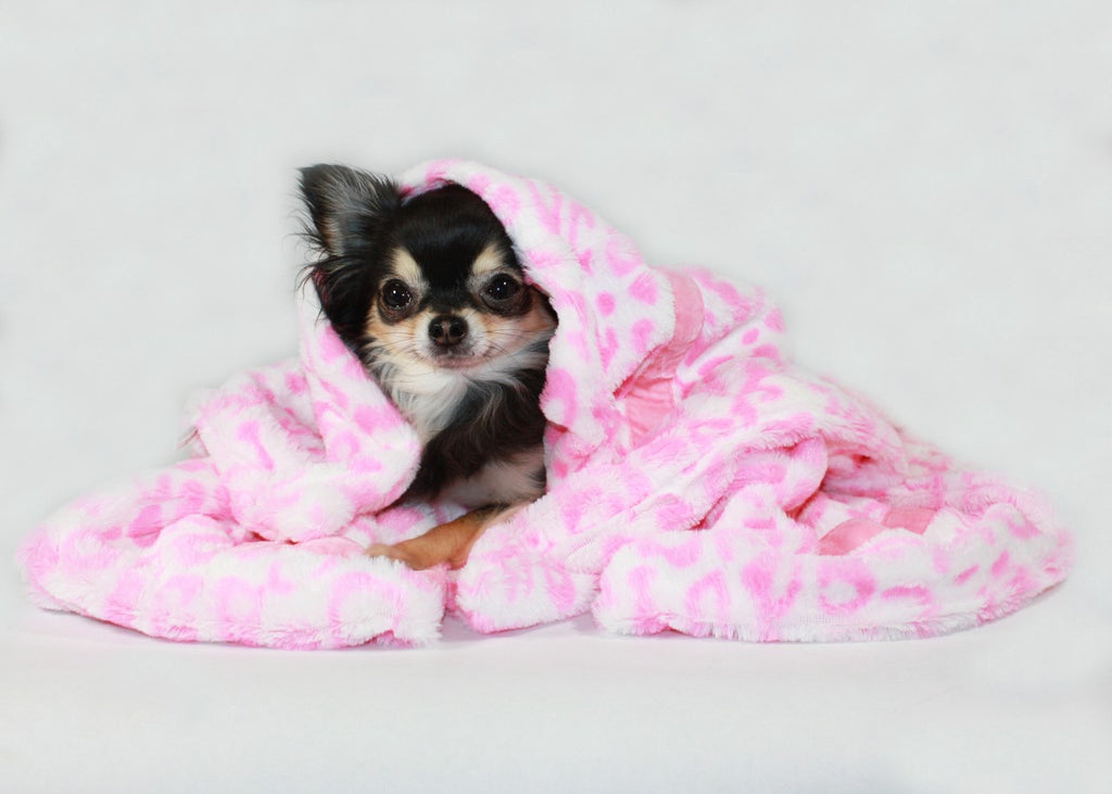 Pink Cheetah Mink Blanket - Hip Doggie