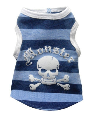 Blue Striped Monster Tank - Hip Doggie