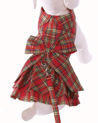 Holiday Dog Harness Dress - Cha-Cha Couture