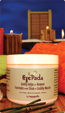 Eye Pads - gently clean your dog's eyes - Happytails