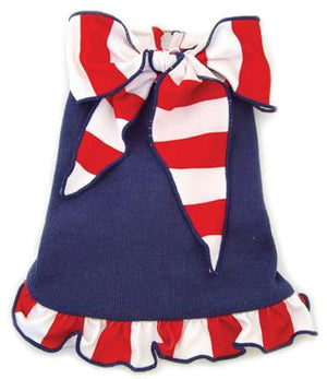 Sailor Halter Dog Dress - I See Spot