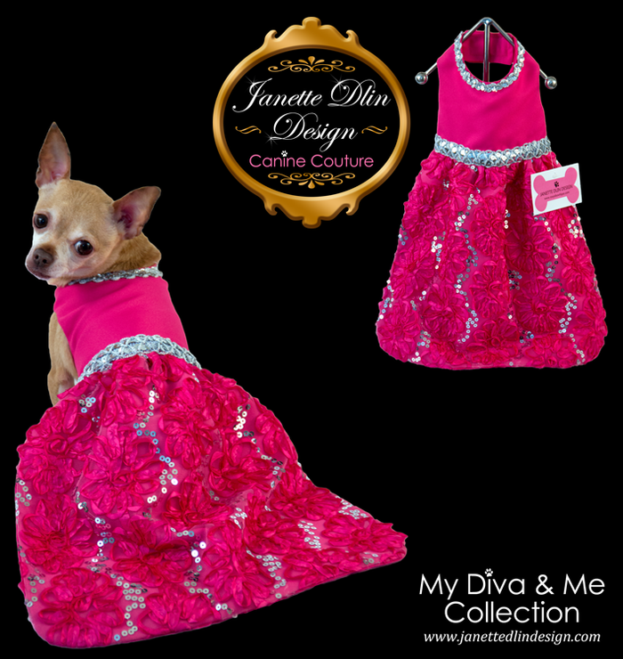 Fuchsia Glow Evening Dress
