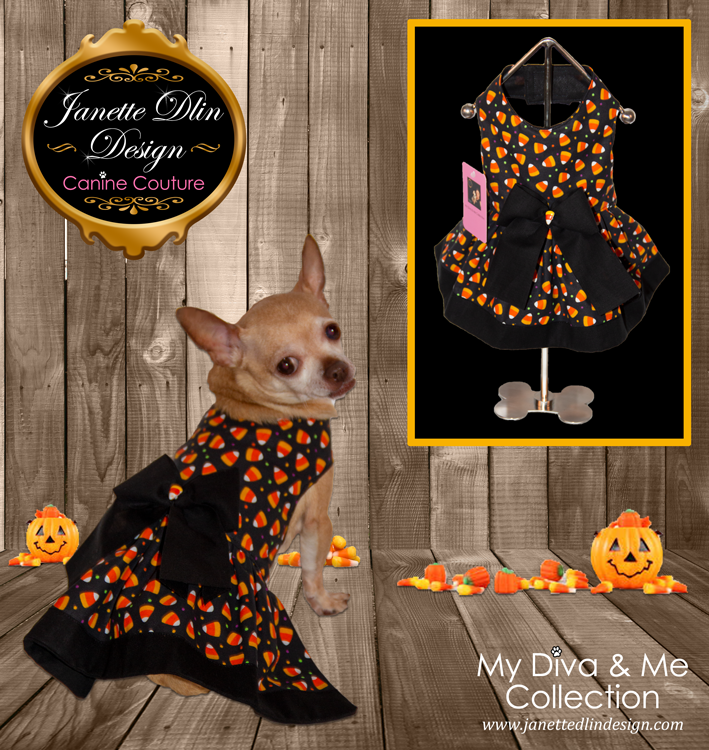 Halloween Candy Corn Dog Dress-JanetteDlin Design