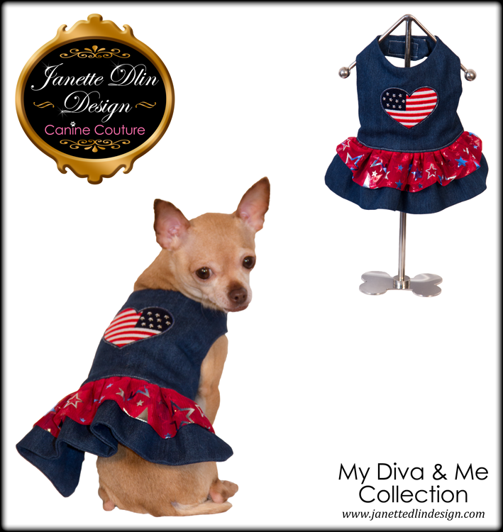Love USA Dress - Janette Dlin Design