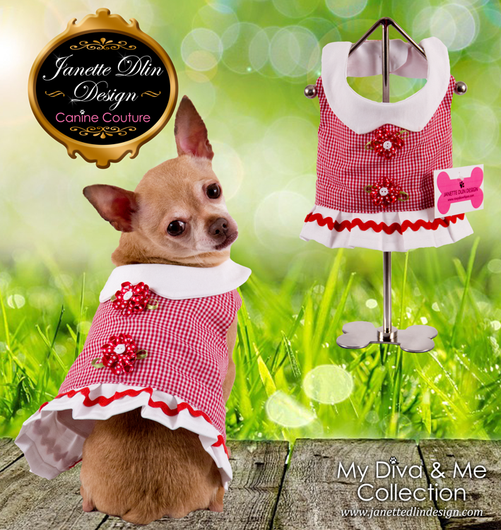 Spring Day Dress - Janette Dlin Design - Dog Dress