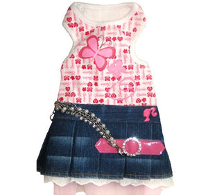 Barbie Denim Pleated Dress - Monkey Daze