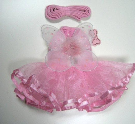 Fairy Wings Pink Dog Tutu Dress