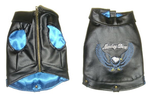 Motorcycle Jacket - Blue - Monkey Daze