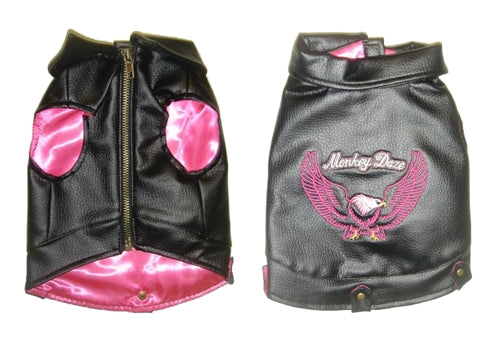 Motorcycle Jacket - Pink - Monkey Daze