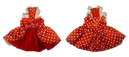 Red Polka Dot Dog Dress - Monkey Daze