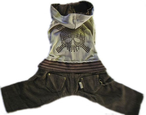 Skull Corduroy Hooded Jumper