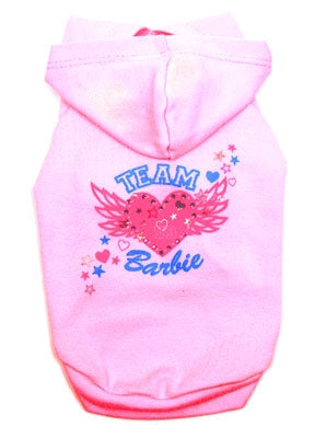 Team Barbie Dog Hoodie