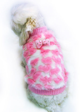 Mink Heart Sweater - Doggie Designer
