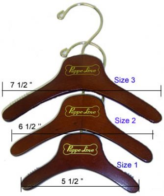 Wooden Dog Clothes Hangers - With Logo