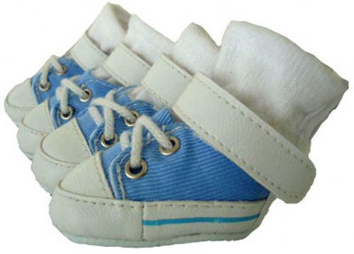 Baby Blue Dog Sneakers