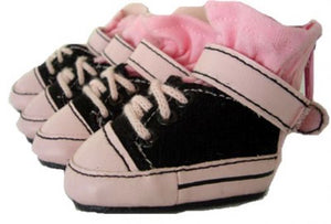 Black & Pink Dog Sneakers - Puppe Love