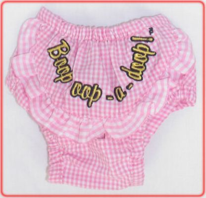 Betty Boop Pink Check Pants - Betty Boop Dog Clothes