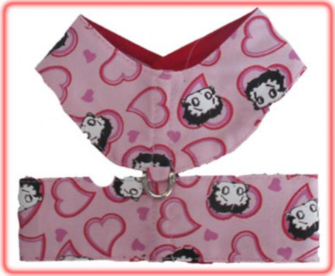 Heart Dog Harness - Betty Boop Dog Clothes