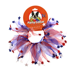 Patriotic Stars Dog Collar