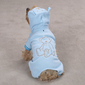 Snuggle Bear Casual Canine Animal Lounger - Blue