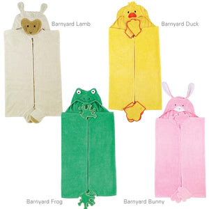 Casual Canine Cotton Barnyard Friends Hooded Dog Towel