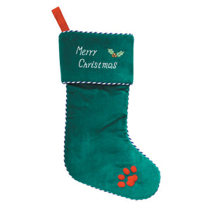 Christmas Paw Print Stocking - Zanies