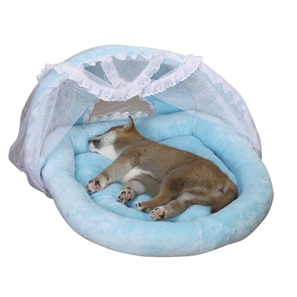 Blue Puppy Bassinet