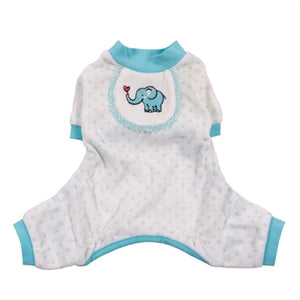 Elephant Pajamas in Blue - Pajamas for dogs - Pooch Outfitters