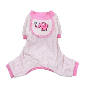 Elephant Pajamas in Pink - Pajamas for dogs - Pooch Outfitters