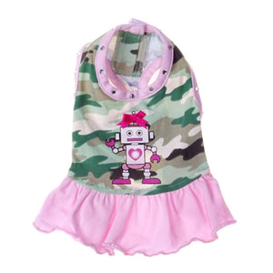 Robot Day Dress - Pooch Outfitters