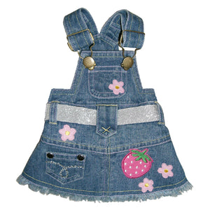 Sandra Denim Overall Dog Dress - Pooch Outfitters