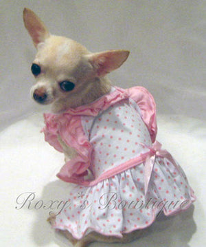 Bitty Baby Ruffle Dog Dress - Platinum Puppy Couture