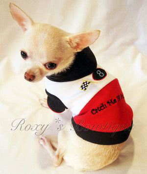 Catch Me If You Can Dog Hoodie - Platinum Puppy Couture