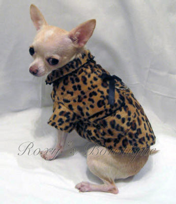 Fur Baby Cheetah Print Dog Coat