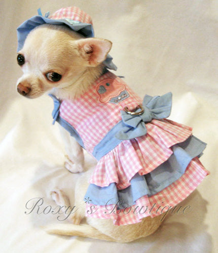 Little Cupcake Cutie Harness Dog Dress - Platinum Puppy Couture