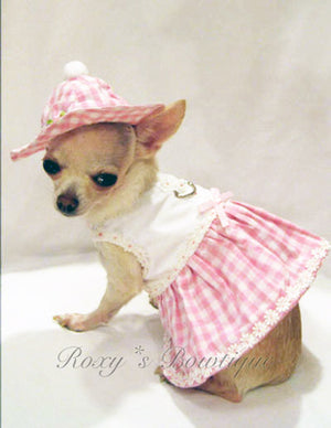 Little Daisy Dog Harness Dress Set - Platinum Puppy Couture