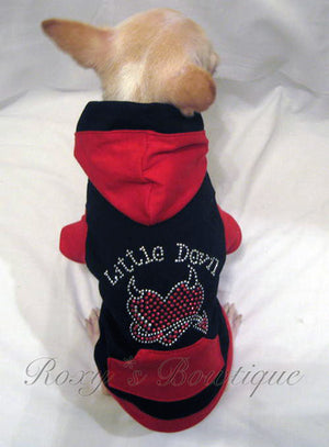 Little Devil Bling Dog Hoodie - Platinum Puppy Couture