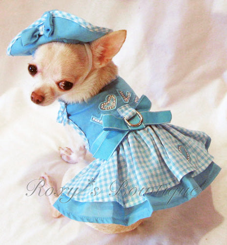 Puppy Love Dog Harness Dress - Platinum Puppy Couture