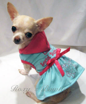 Little Social Butterfly Hoodie Dress - Platinum Puppy Couture