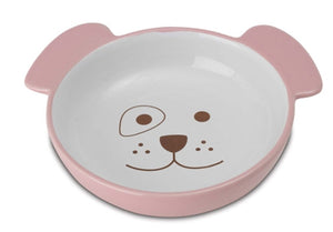 Here Doggy Dog Bowl - Pink - PetRageous
