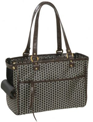Lucky Pet Carrier by PETOTE - Reverse Noir Dots